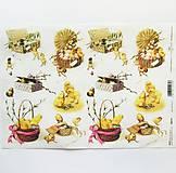 Papier - Ryžový papier na decoupage -A4-R474 - Veľká noc, kuriatka - 10348480_