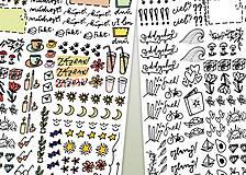 Papiernictvo - ELEKTRONICKÉ nálepky do diára - 10348651_