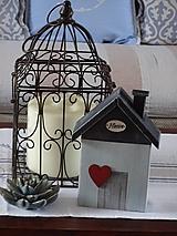 Dekorácie - Domček so srdiečkom - 10349503_