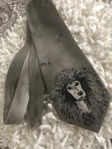 "Doplnky - Kravata ""Silver poodle"" - 10350464_"