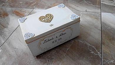 Nábytok - svadobný box plný spomienok - 10348709_