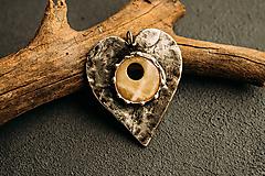 Náhrdelníky - srdiečko z aragonitu - 10349570_
