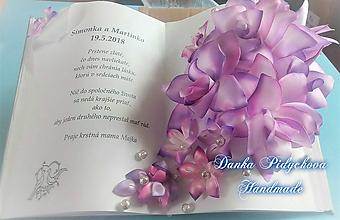 Dekorácie - Svadobná gratulačná kniha - 10348633_