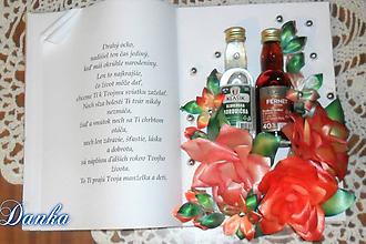 Dekorácie - Gratulačná kniha Ruže - 10348979_