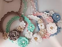 Náhrdelníky - Háčkovaný romantický náhrdelník - 10349215_