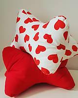Úžitkový textil - Valentínsky vankúšik kostička - 10349326_