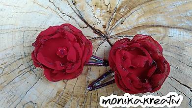 Detské doplnky - Sponka-pukačka šifónova ruža - 10350117_