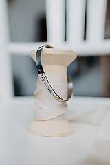Náramky - Oceľový náramok s vlastným textom - 10348458_