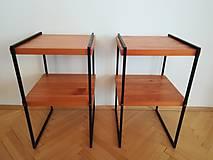 Nábytok - nočný stolík drevo/oceľ - 10349864_