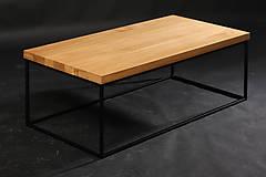 Nábytok - konferenčný stolík drevo/oceľ - 10349982_