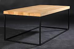 Nábytok - konferenčný stolík drevo/oceľ - 10349996_