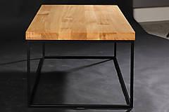 Nábytok - konferenčný stolík drevo/oceľ - 10349999_
