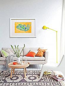 """Obrazy - Akvarelový obraz """"Kohút"""" - zľava zo 170 € - 10349447_"""