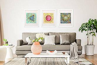 """Obrazy - Abstraktný akvarelový obraz """"Zem""""- zľava z 90€ - 10349546_"""
