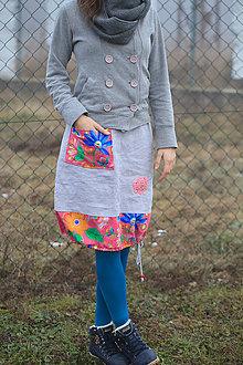 Sukne - Ľanová sukňa s čelenkou