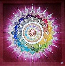 Obrazy - Mandala šťastia, úspechu a energie - 10351243_