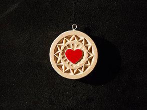 Náhrdelníky - Srdiečko kruh - 10348652_