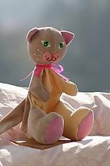 Hračky - Maňuška. Zvieratko Mačka Micka - 10349672_