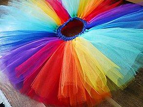 Detské oblečenie - Tutu sukňa dúha - 10349569_