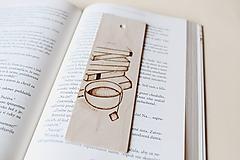 """Papiernictvo - Drevená záložka do knihy """"Vôňa čaju"""" - 10350254_"""