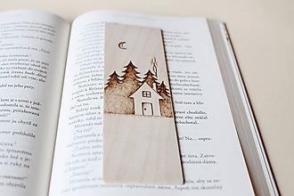 """Papiernictvo - Drevená záložka do knihy """"V horách"""" - 10350239_"""