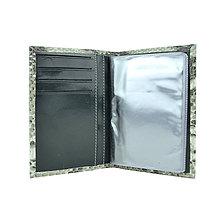 Peňaženky - Kožené púzdro na doklady, vzor hadiny - 10350261_
