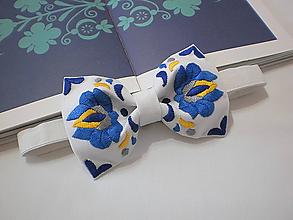 Doplnky - Motýlik Považie modro-žltý - 10348674_