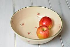 Romantická misa na ovocie