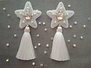 Náušnice - White stars náušnice - 10348110_