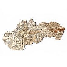 Dekorácie - Mapa Slovenskej Ľudovej Výšivky Folk - 10350237_