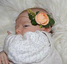 Detské doplnky - Čelenka- marhuľkový kvet - 10351174_