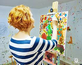 Kurzy - Darčeková poukážka KURZ individuálneho intuitívneho maľovania pre dospelých - 10350332_