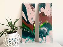Obrazy - Set 2 abstraktných obrazov - 10351016_
