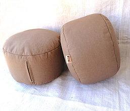 Úžitkový textil - FILKI meditačný sedák (hríbik) 13 cm (Hnedý) - 10348427_