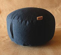 Úžitkový textil - FILKI meditačný sedák (hríbik) 13 cm (Modrý) - 10348430_
