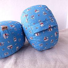 Úžitkový textil - FILKI meditačný sedák (hríbik) 13 cm (Námornícky) - 10348437_