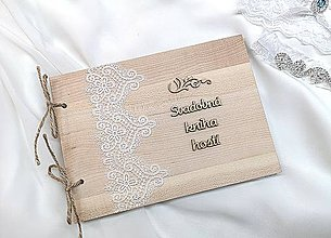 Papiernictvo - Svadobná kniha hostí - 10350706_