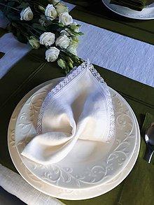 Úžitkový textil - Ľanový obrúsok Elegance - 10350950_