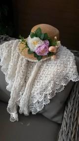Úžitkový textil - Háčkovaná ozdobná deka - 10349401_
