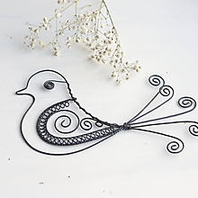 Dekorácie - veľký vtáčik - 10353135_