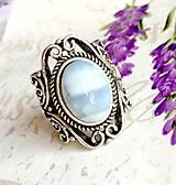 Prstene - Vintage Blue Opal Ring / Vintage prsteň s modrým opálom #1479 - 10354738_