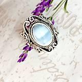Prstene - Vintage Blue Opal Ring / Vintage prsteň s modrým opálom #1479 - 10354741_