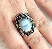 Prstene - Vintage Blue Opal Ring / Vintage prsteň s modrým opálom #1479 - 10354744_