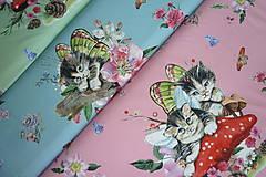 Textil - Mačiatka úplet digi panel - 10355058_