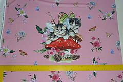 Textil - Mačiatka úplet digi panel - 10355069_