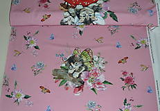 Textil - Mačiatka úplet digi panel - 10355070_