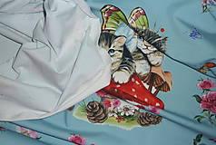 Textil - Mačiatka úplet digi panel - 10355087_