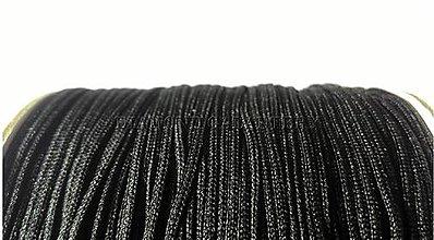 Galantéria - Shamballa šnúrka nylonová 1,5 mm - Čierna - 10354989_