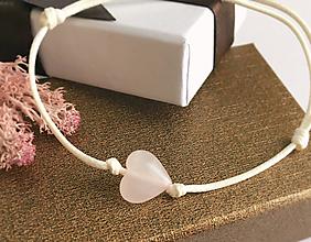 Náramky - náramok srdce ruženín - 10352595_