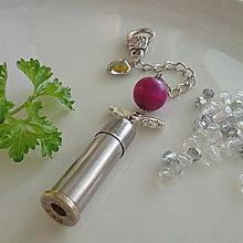 Kľúčenky - valentínsky prívesok s anjelikom - 10355014_